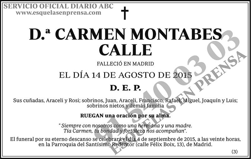 Carmen Montabes Calle